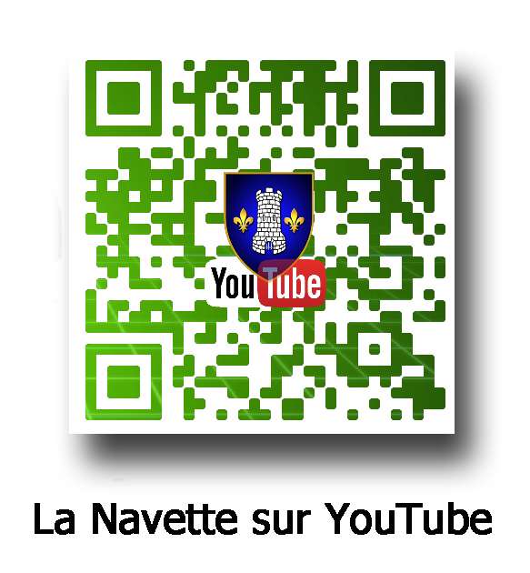 QR code la Navette sur Youtube avec inscription copie