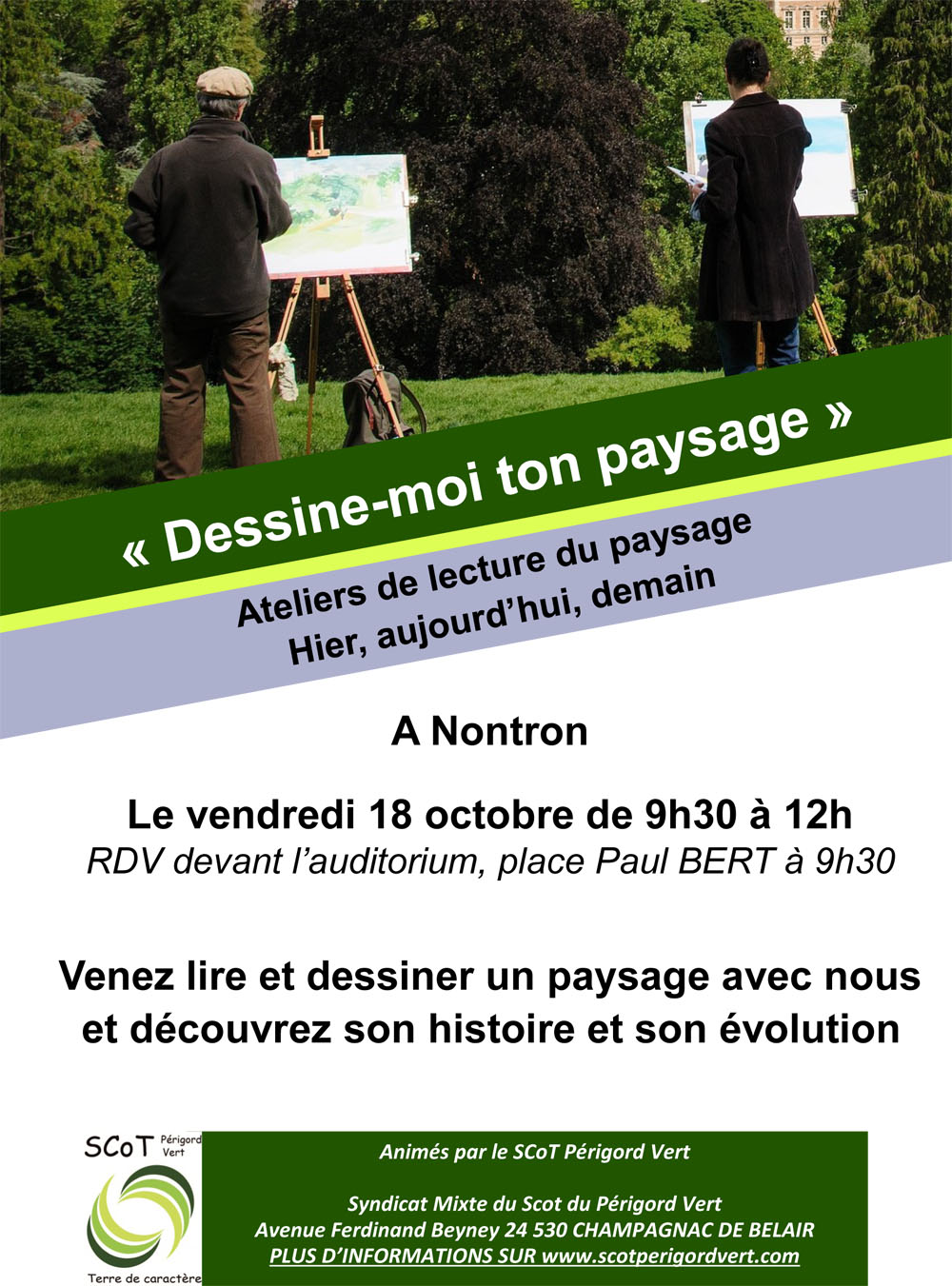 Affiches ateliers paysages CCPN
